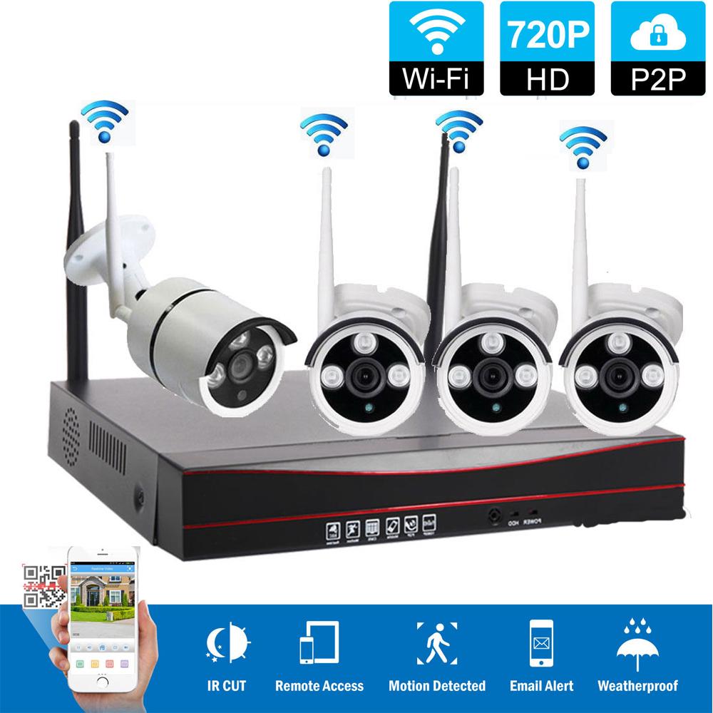 4ch Wireless Nvr Outdoor Wifi Ir Cut Cctv Camera Home Office