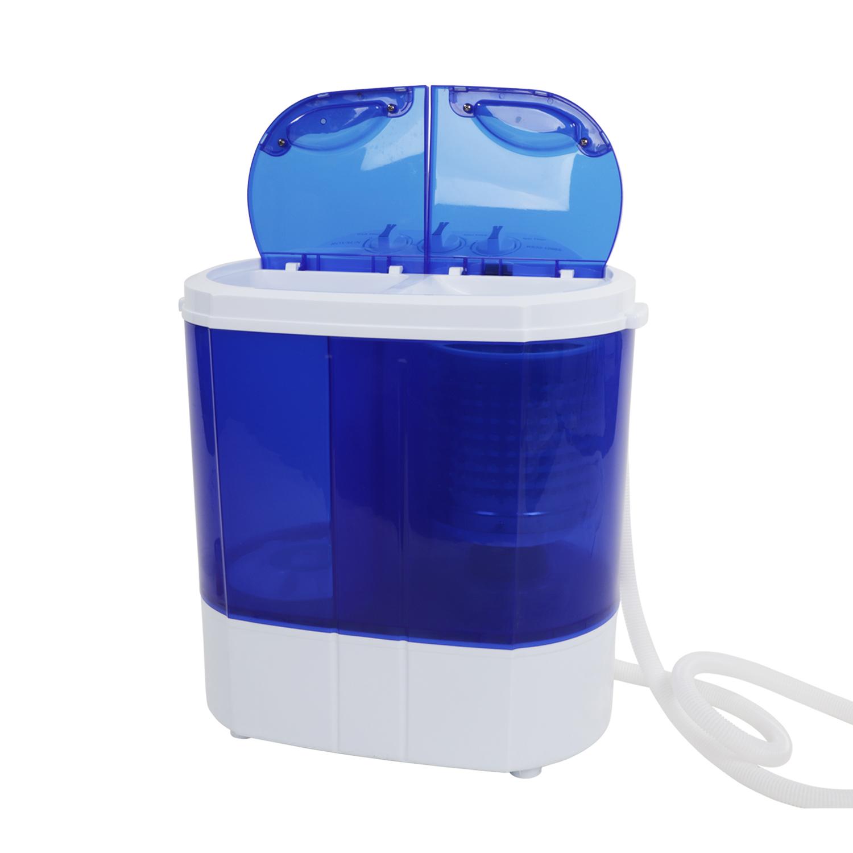 Portable Mini Electric Washing Machine Compact Twin Tub Washer Spin ...