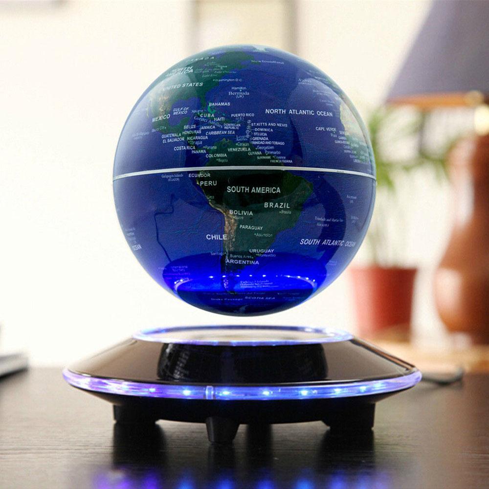 """6"""" Maglev Magnetic Levitating Floating World Map Globe ..."""