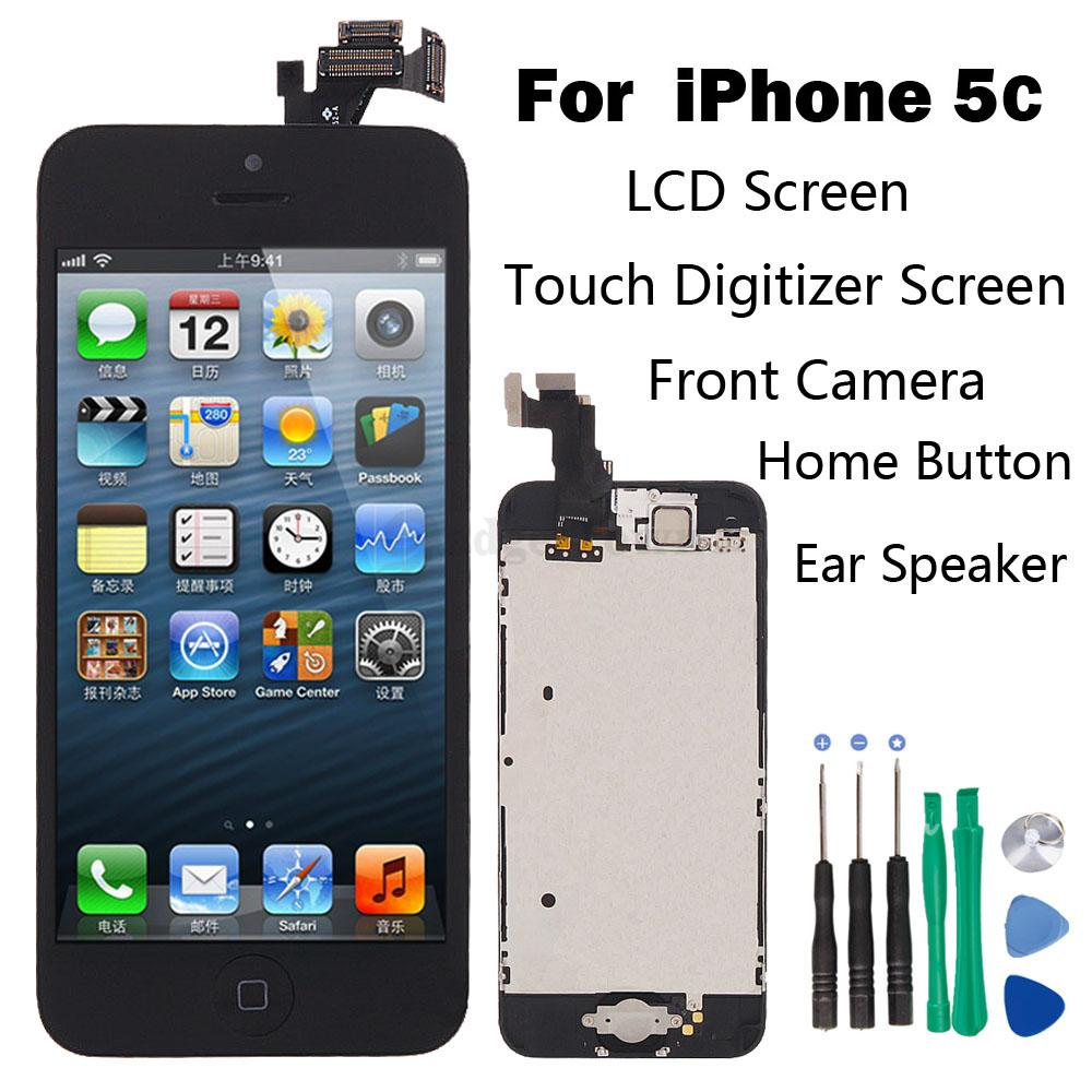 iphone 5c home button not working set lcd touch screen digitizer assembly replacement 9081