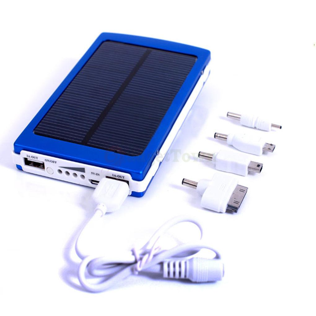 30000mAh Solar Dual USB Portable Battery Charger Power